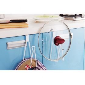 Holder Gantungan Tisu Toilet Multifungsi Model 1 Slot - White - 2