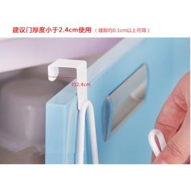 Holder Gantungan Tisu Toilet Multifungsi Model 1 Slot - White - 4