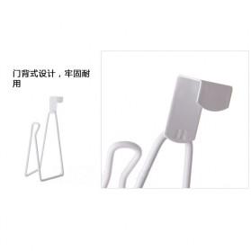 Holder Gantungan Tisu Toilet Multifungsi Model 1 Slot - White - 5