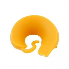 Silikon Label Gelas Wine Party Recognizer Model Kucing 6 PCS - Mix Color - 5