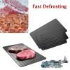 Pisau Dapur Set & Pengasah Pisau - Talenan Defrosting Daging Beku Multifungsi - Size M - Black