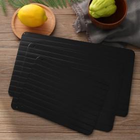 Meijuner Talenan Defrosting Daging Beku Multifungsi Meat Fast Thawing Board Size M - H0KA-748 - Black - 3