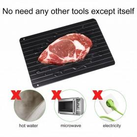 Meijuner Talenan Defrosting Daging Beku Multifungsi Meat Fast Thawing Board Size M - H0KA-748 - Black - 7