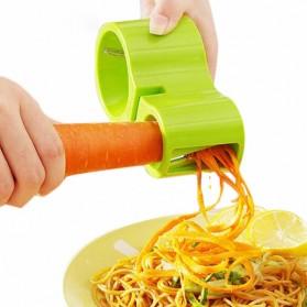 Alat Pemotong Sayur Vegetarian dengan Pengasah Pisau - Green
