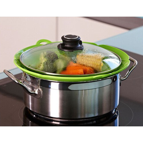 Penutup Panci Spill Stopper Over Boiling 26 Cm Green