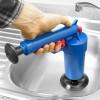 Perlengkapan Ledeng Lainnya - Auger Pompa Sedot Saluran WC Westafel Ledeng High Pressure Air Drain Plunger - JJ63010 - Blue