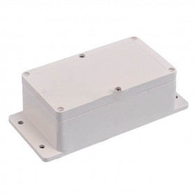 Wall Mounting Outdoor Electrical Enclosure Box ABS Waterproof 198 x 93 MM - White