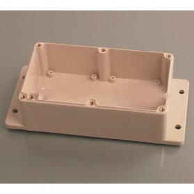 Wall Mounting Outdoor Electrical Enclosure Box ABS Waterproof 198 x 93 MM - White - 3