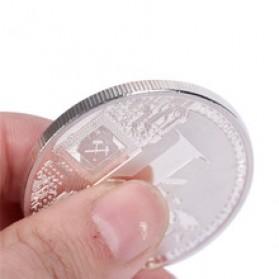 Silver Plated Litecoin Miniatur - Silver - 3