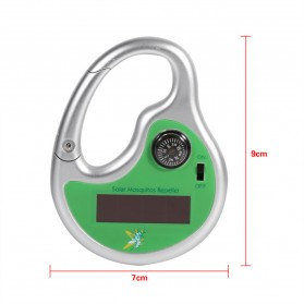 Hook Clamp Karabiner Anti Nyamuk Ultrasonic Solar Power - 2