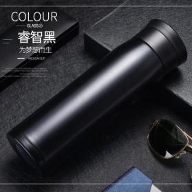 Botol Minum Thermos Stainless Steel Elegan 450ML - Black