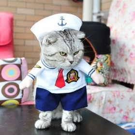 Baju Kucing Cat Funny Halloween Cosplay Size M - White