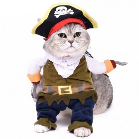 Baju Kucing Cat Funny Halloween Cosplay Size M - Brown