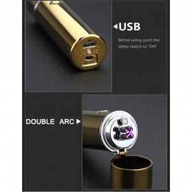 Noble Cylinder Korek Api Elektrik Pulse Plasma USB Lighter - JL108 - Black - 7