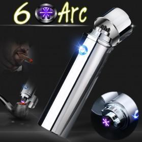 Noble Cylinder Korek Api Elektrik 6 Arc Pulse Plasma USB Lighter - JL109 - Multi-Color - 5