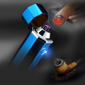 Noble Hexagon Korek Api Elektrik Pulse Plasma USB Lighter - JL117 - Black - 2