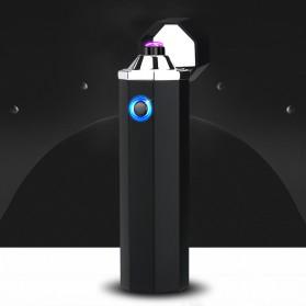 Noble Hexagon Korek Api Elektrik Pulse Plasma USB Lighter - JL117 - Black - 6