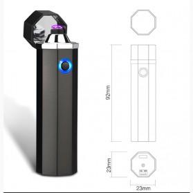 Noble Hexagon Korek Api Elektrik Pulse Plasma USB Lighter - JL117 - Black - 9