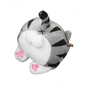 Dompet Koin Boneka Model Kucing - Gray