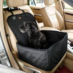 Dog Booster Seat Box Pet Carrier Bag Kursi Mobil - Black