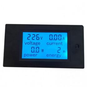 PZEM-021 4IN1 AC Voltmeter Current Power Monitor Alarm 80-270V 20A - Black