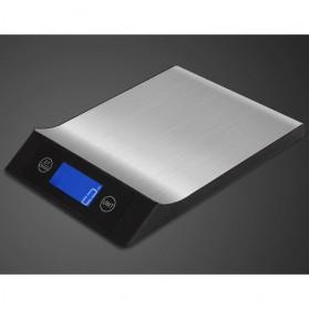 Timbangan Digital Dapur Model Aluminium 5kg 1g - Black