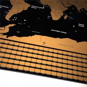 Wu Fang Poster Scratch Map Peta Dunia Versi National Flag - ZJP-M018 - Black - 2