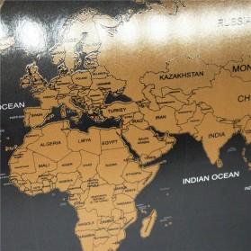 Wu Fang Poster Scratch Map Peta Dunia Versi National Flag - ZJP-M018 - Black - 3