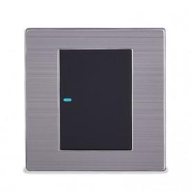 Saklar Lampu Luxury LED 86 Type 1 Switch - Black