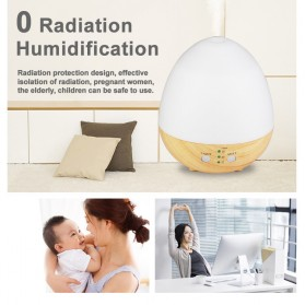 Taffware Humi Aromatherapy Air Humidifier Oil Diffuser Egg Shape 235ml - H25 - White - 7
