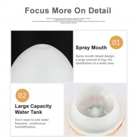 Taffware Humi Aromatherapy Air Humidifier Oil Diffuser Egg Shape 235ml - H25 - White - 9