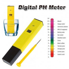 Alat Ukur Uji PH Meter Tester Pen Air Minum/Akuarium - PH-2016 - Yellow