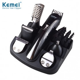 Kemei Alat Cukur Elektrik 6 in 1 Hair Trimmer Shaver - KM-600 - Black