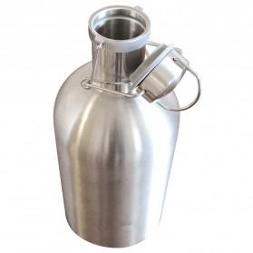 Botol Minum Bir Stainless Steel Beer Hip Flask 64oz - Silver - 2