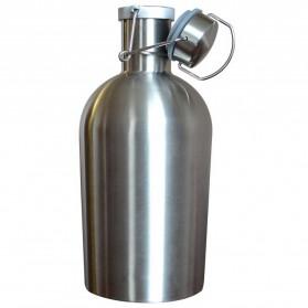 Botol Minum Bir Stainless Steel Beer Hip Flask 64oz - Silver - 3