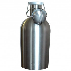 Botol Minum Bir Stainless Steel Beer Hip Flask 64oz - Silver - 4