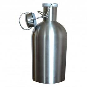 Botol Minum Bir Stainless Steel Beer Hip Flask 64oz - Silver - 5
