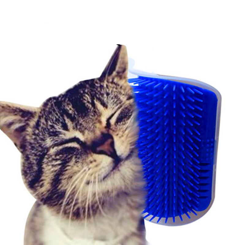 ... Sikat Dinding Pijat Kucing Self Grooming Hair Brush Tools - Blue - 1 ... 504bb77571