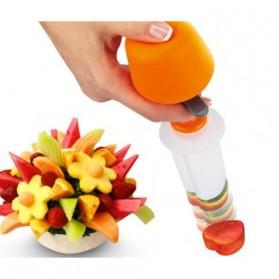 Alat Cetak Buah dan Sayur Salad Food Carving Tools - White