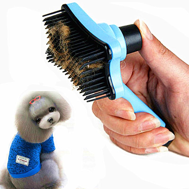 ... Sisir Bulu Hewan Peliharaan Pet Fur Grooming Brush - Blue - 1 ... 03b813a7f8