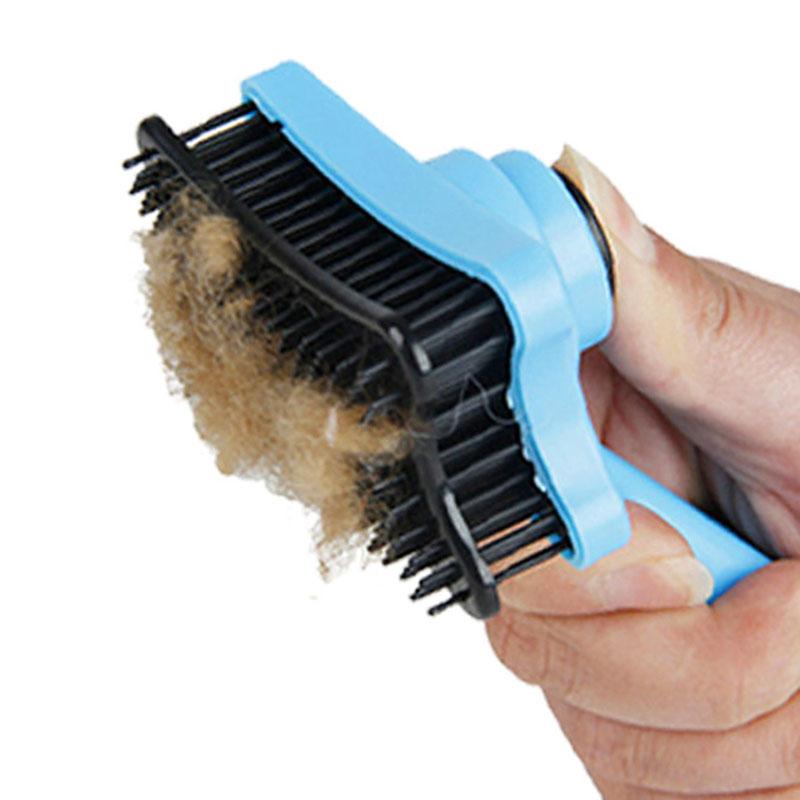... Sisir Bulu Hewan Peliharaan Pet Fur Grooming Brush - Blue - 2 ... 1000fe4c01
