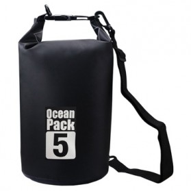 Outdoor Waterproof Bucket Dry Bag 5 Liter - Black