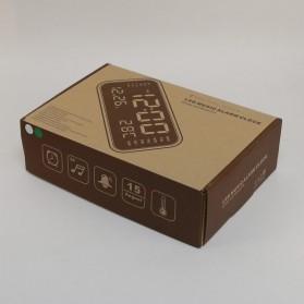 Jam Alarm Digital dengan Sensor Temperature + Calender + Mirror - 8801 - Black - 5