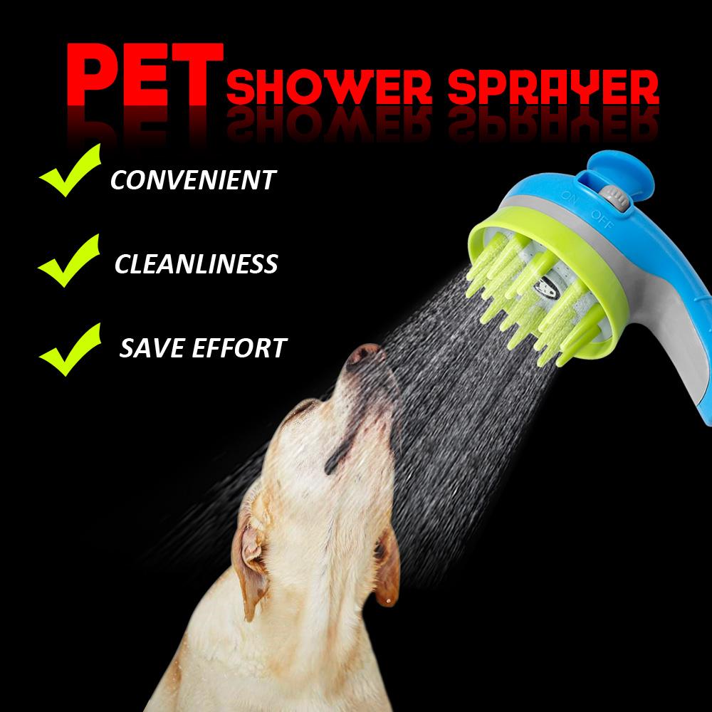 ... Kepala Shower Air 2 in 1 Sikat Mandi Anjing Pet Grooming Tool - Blue -  4 ... eba2da4972
