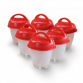 Silicone Egglettes Hard Boiled Egg Alat Rebus Telur Tanpa Cangkang 6 PCS - CS-10602 - 5