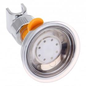 BATHE PROJECT Suction Clamp Holder Shower Mandi - JJ14711 - Silver - 3