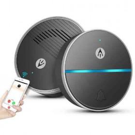 DOPHIGO Bel Pintu Wireless Remote Intercom Voice Chat - DPH-DA110 - Black