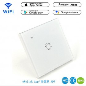 Panel Lampu Touch WiFi Smart Home Voice Control - White