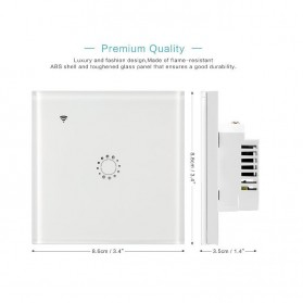 Panel Lampu Touch WiFi Smart Home Voice Control - White - 2