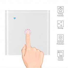 Panel Lampu Touch WiFi Smart Home Voice Control - White - 3